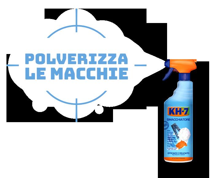 KH7 Smacchiatore. Polverizza le macchie
