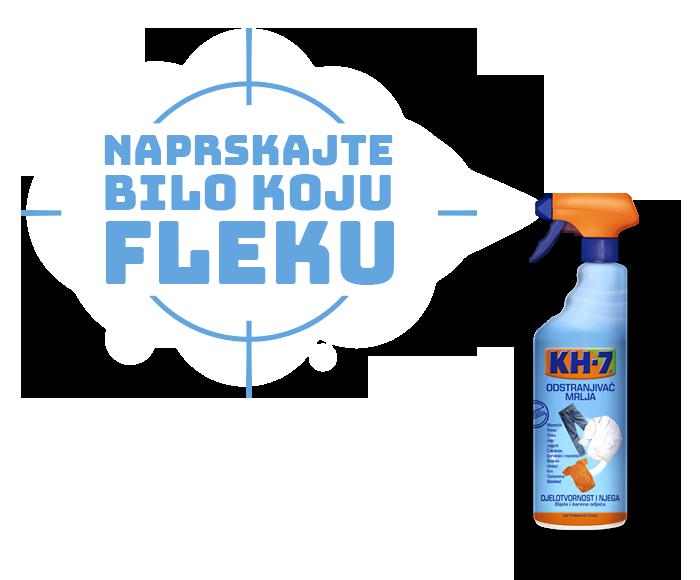 Odstranjivač Mrlja KH7. Naprskajte bilo koju fleku