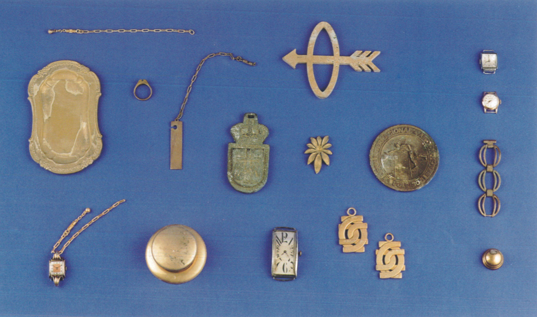 Pequeña muestra de las piezas recubiertas (años 1950-1980)