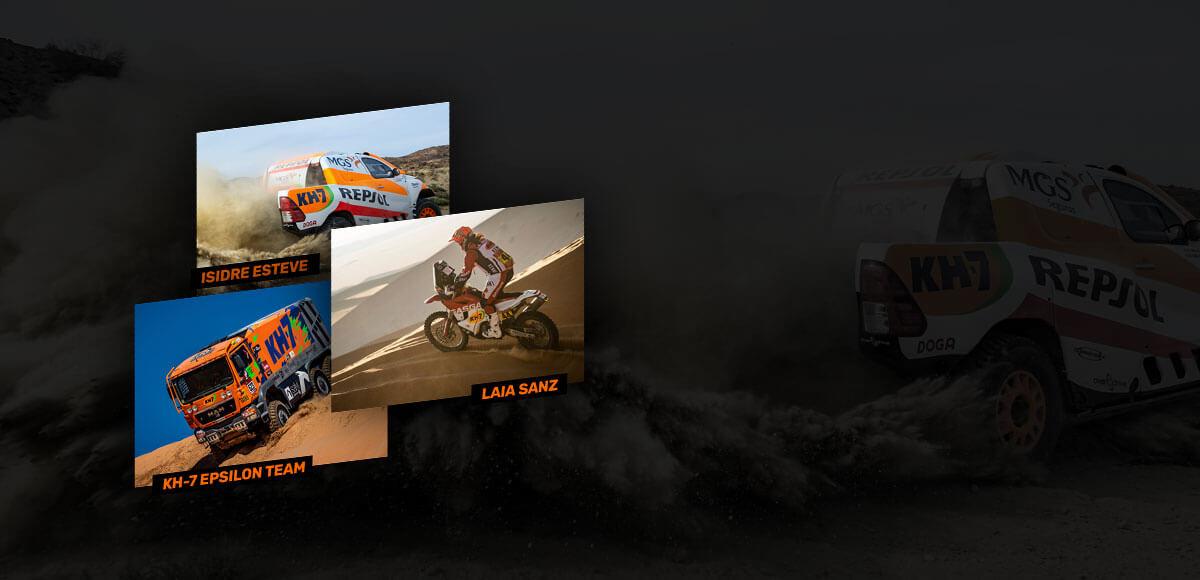 Sigue a nuestros pilotos en el Dakar